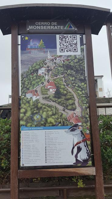 Mapa do Cerro de Monserrate - Bogotá