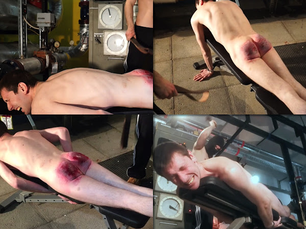 #RusStraightGuys - Extreme belt spanking for worker Pasha 25 y.o.