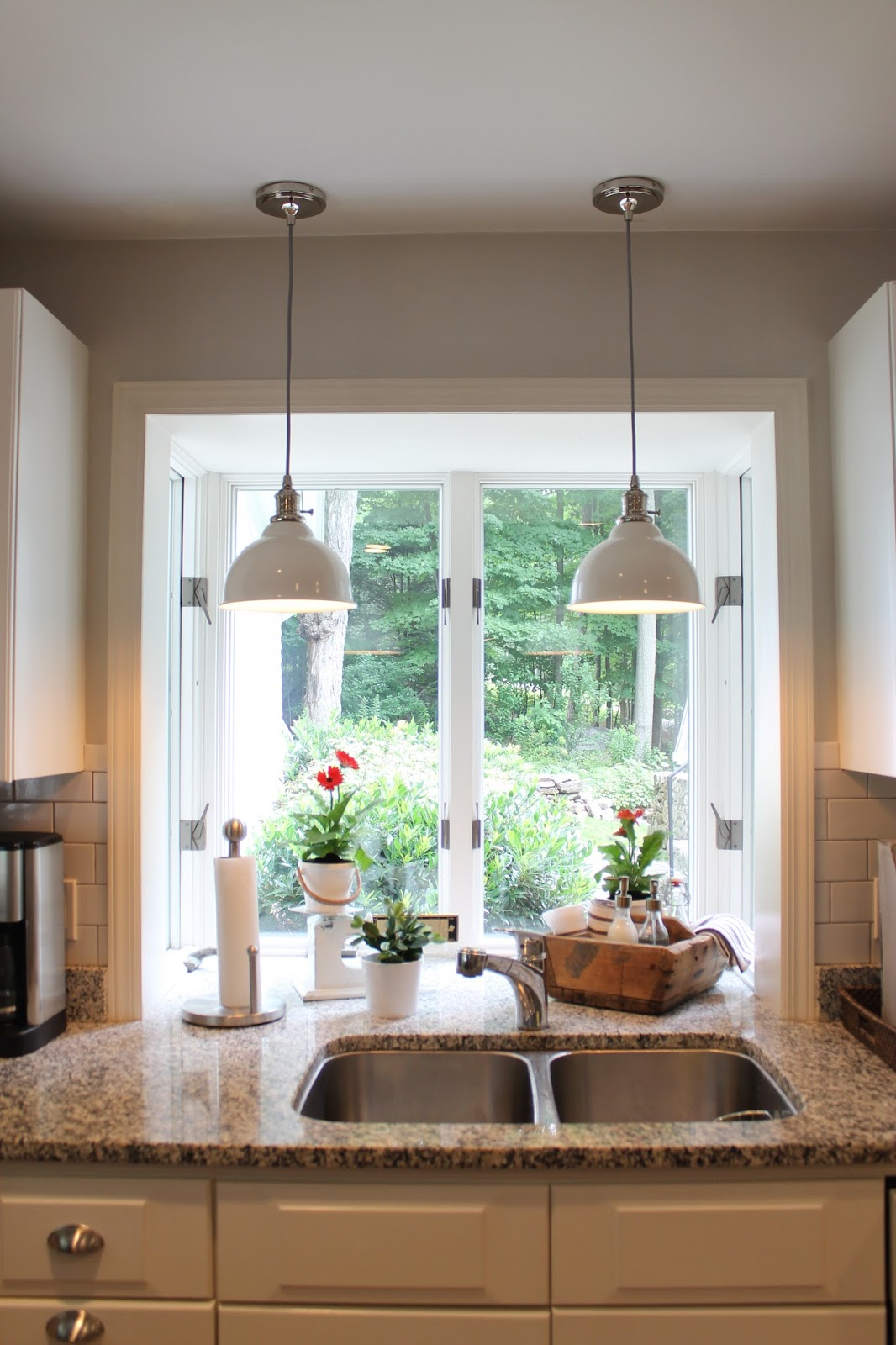 Kitchen Sink Pendant Light Bar Stools For Island The Picket Fence Projects Pretty Pb Pendants