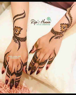 Back Hand Mehndi Design Arabic