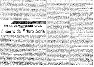 El País. 9/11/1920. Hemeroteca digital de la Biblioteca Nacional de España