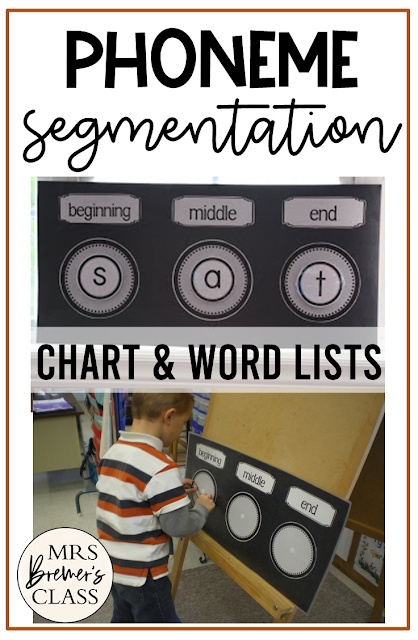 Phoneme Segmentation activities where students sound out CVC words by beginning, middle, and ending sounds for  Kindergarten and First Grade