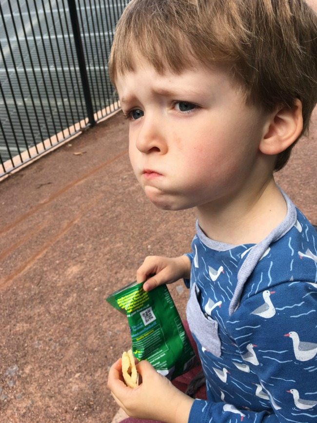 Our-weekly-journal-7-august-2017-trains-and-bikes-toddler-on-bike-toddler-eating-crisps