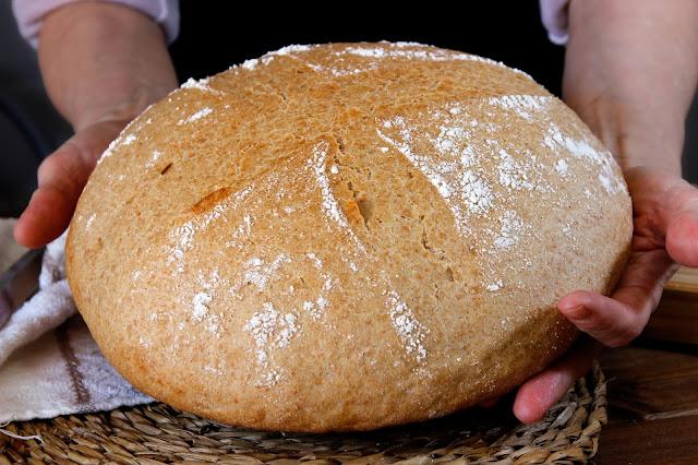 Pan casero integral rápido, sin levado. Julia y sus recetas
