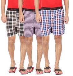 Joven Pack Of 3 Assorted Multi Cotton Boxers just for Rs.299 Only @ Paytm