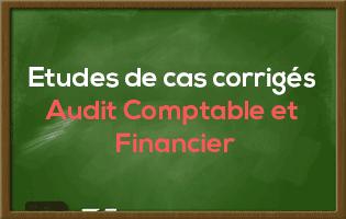 Polycopié des Etudes de cas corrigés Audit Comptable et Financier