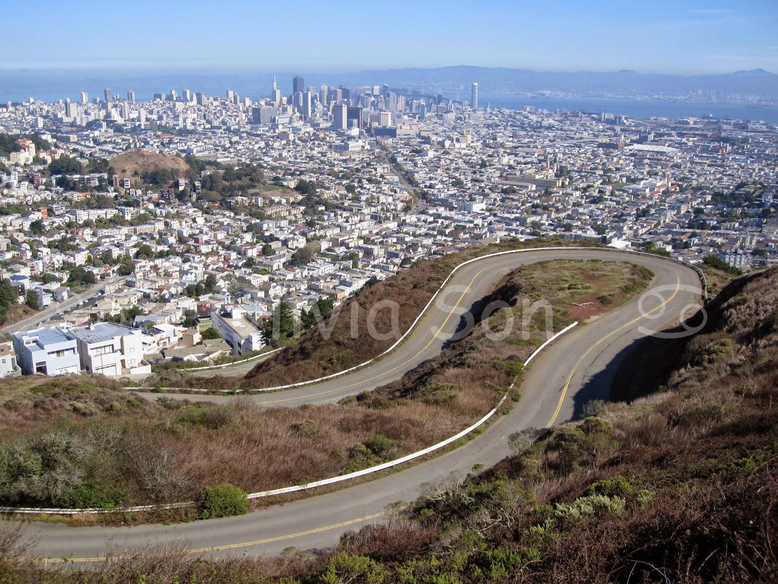 twin peaks, san francisco, californie, usa