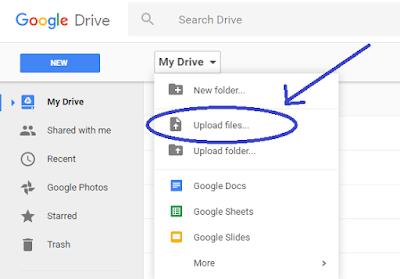 mendaptkan url di google drive