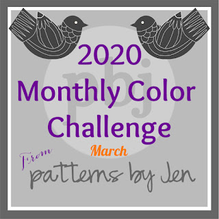 color challenge 2020 button march