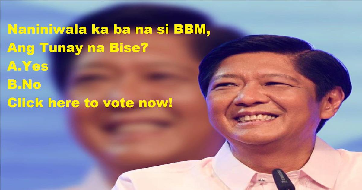 Survey: Naniniwala ka ba na si BBM ang Tunay na VP?