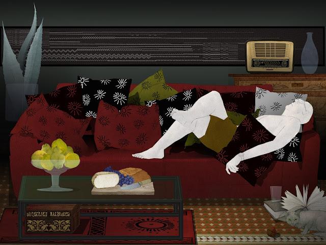 hombre, haciendo , la siesta