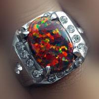 Batu Akik Kalimaya (Black Opal)