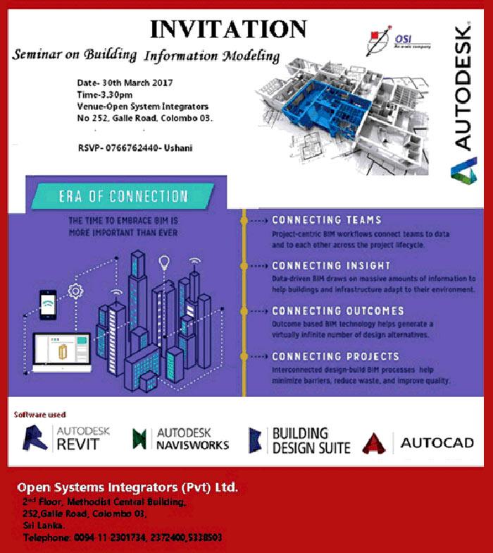 OSI | Invitation for Seminar on Building Information Modeling.