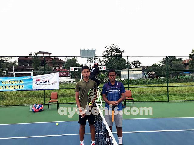 Eky Jejakkan Kaki ke Babak 8 Besar Kejurnas Tenis Yunior New Armada Cup XXIV