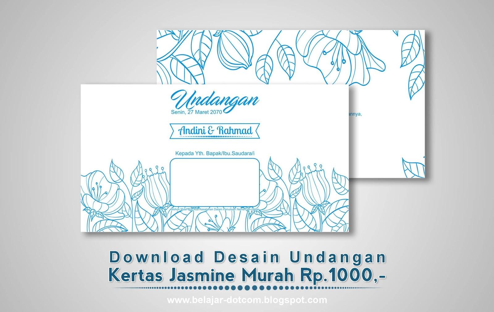 Desain Kertas Undangan Pernikahan Jasmine Murah Yang Bisa Diedit