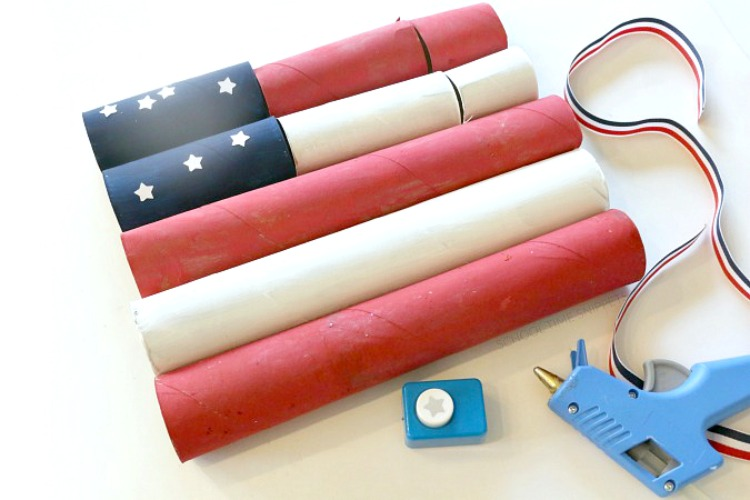 Patriotic Flag Kid Craft
