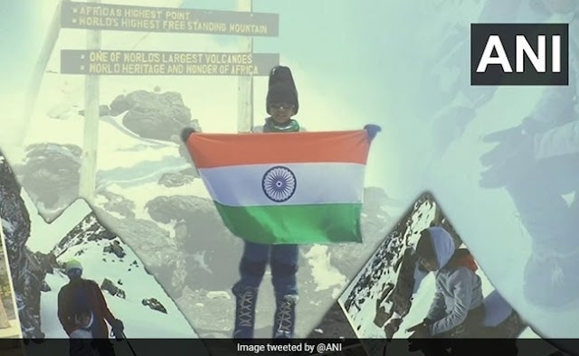 Boyhood into the legend : Virat Chandra,7 y.o.,is the youngest people ever to climb Africa's highest peak, Mount Kilimanjaro (5,895 metres).