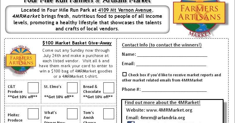 Four Mile Run Farmers and Artisans Market: 4MRMarket Report