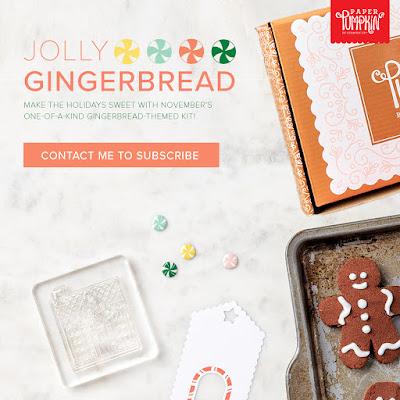 Jolly Gingerbread November Paper Pumpkin