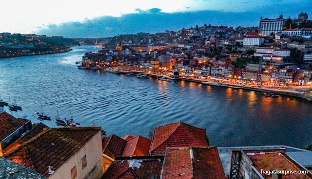 Cidade do Porto, Portugal, vista da estação do teleférico de Vila Nova de Gaia