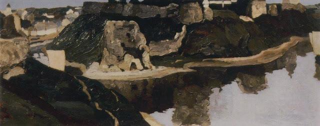 Николай Рерих - Псков. Общий вид Кремля. 1903