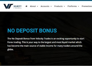 Bonus Forex Tanpa Deposit Velocity Trades $25 & Bonus Lainnya