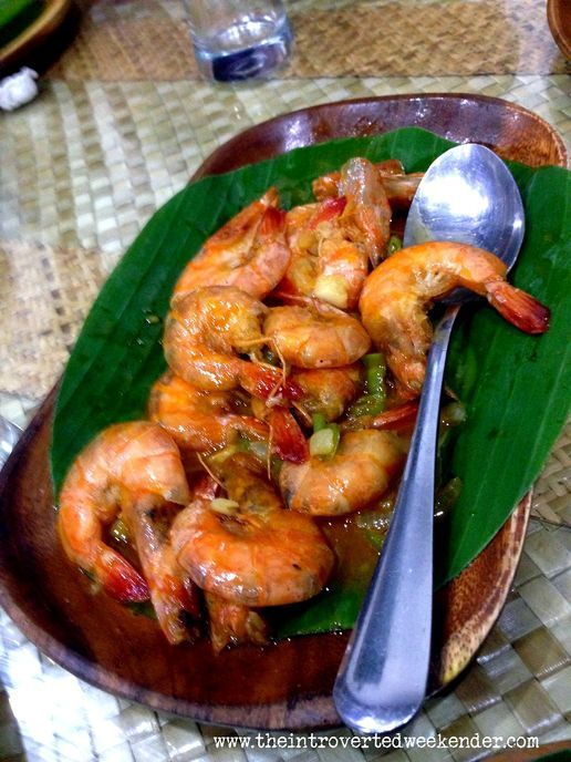Spicy shrimp at Apag Marangle