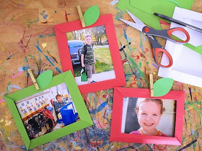 Apple Paper Photo Frames by Our Kid Things