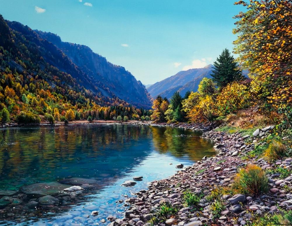 lienzos de paisajes naturales lugares de la naturaleza en pinturas cuadros de paisajes bonitos en pinturas
