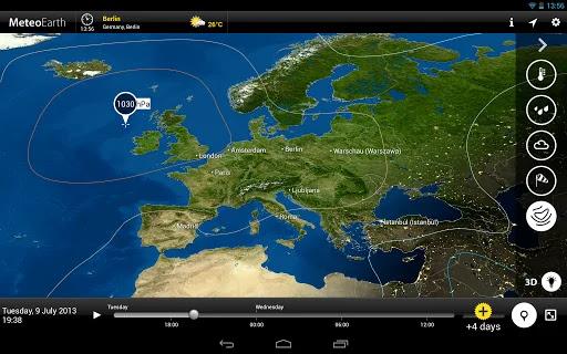 تحميل افضل تطبيق متطور لمعرفة احوال الطقس MeteoEarth Premium  بأخر اصدار كامل للاندرويد 2020