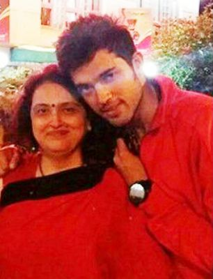 Parth Samthaan with mother