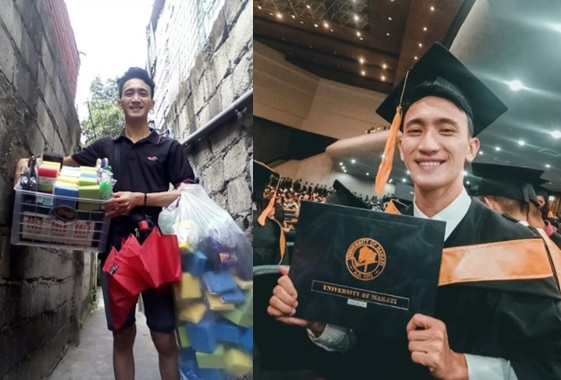 Melvin Chua graduates from University of Makati