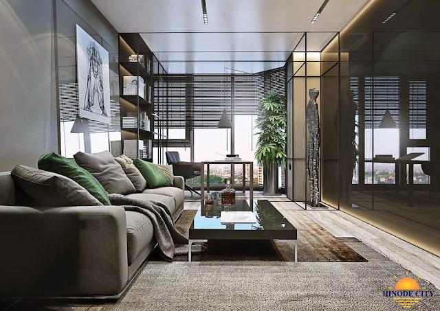 phòng khách dự án Hinoden City