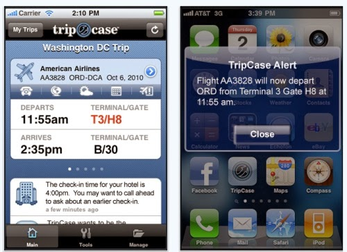 TripCase travel apps