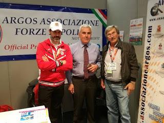 Il Presidente del CONI Lazio Riccardo Viola in visita allo stand ARGOS Forze di Polizia