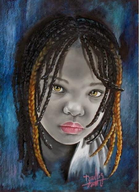 Pintura Moderna Fotograf Artstica Rostros Africanos