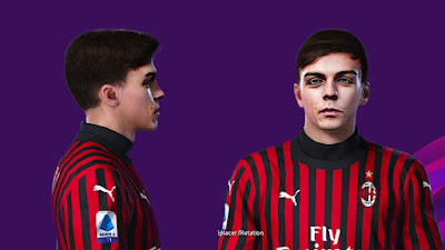 PES 2020 Faces Daniel Maldini by Prince Hamiz