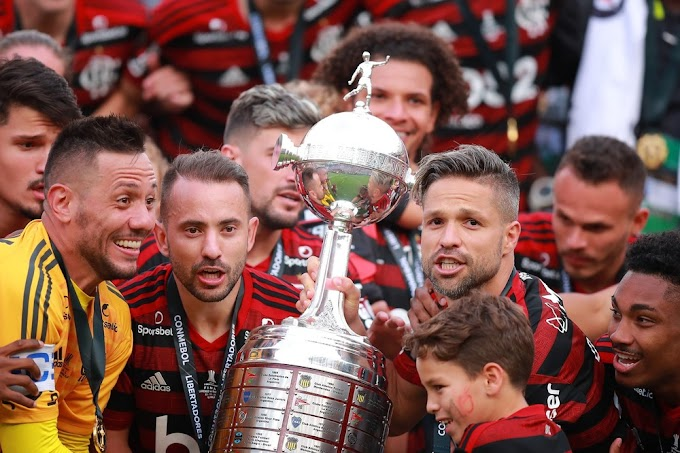 FUTEBOL: Flamengo é campeão brasileiro e se torna primeiro time desde 1963 a ganhar Nacional e Libertadores no mesmo ano.