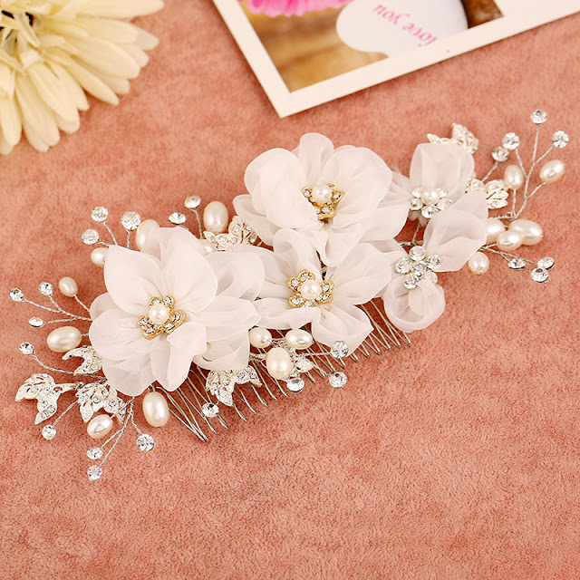 White Hair Pieces For Weddings