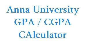 Anna University Online CGPA GPA Calculator for Regulations 2008 and