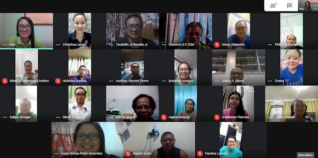 Pertemuan secara atas talian dengan menggunakan aplikasi Google Meet