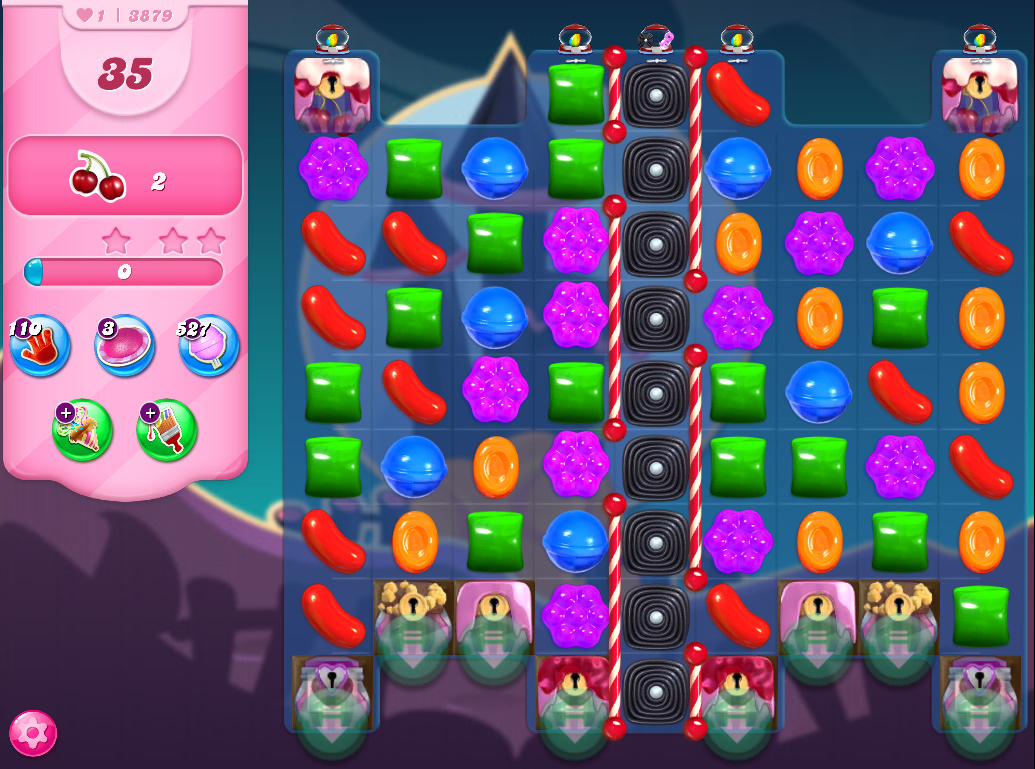 Candy Crush Saga level 3879