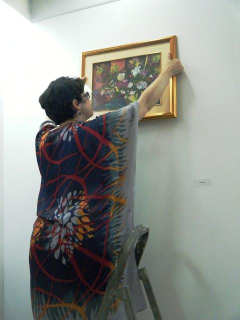 Préparatifs de l'expo de l'atelier artémisia 17