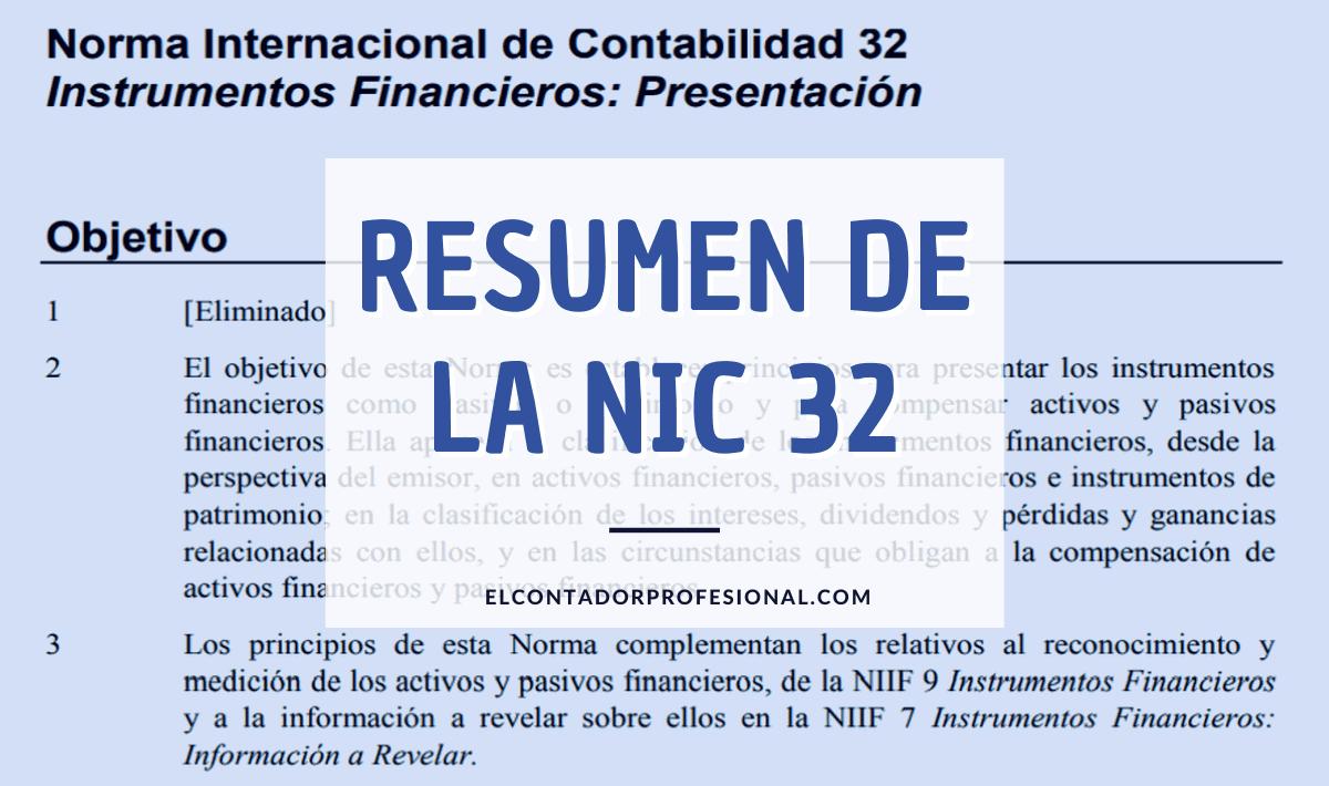 nic 32 resumen