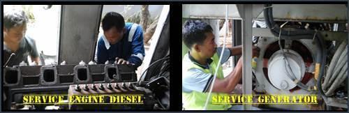 service mesin,generator dan control