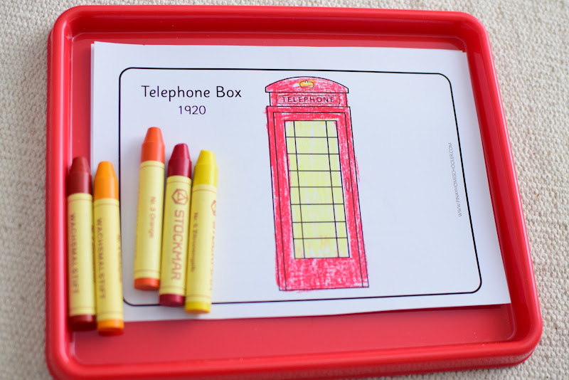 History of Telephones: Coloring Pages for Fine Motor Skills