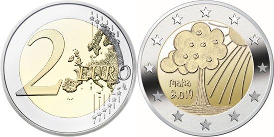 Malta 2 euro 2019 - Children in solidarity - Nature and Environment