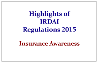 Highlights of IRDAI (Transfer of Equity Shares of Insurance Companies) Regulations, 2015