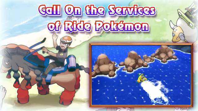 Ride Pokémon Sun Moon Alola Mudsdale Sharpedo Tauros