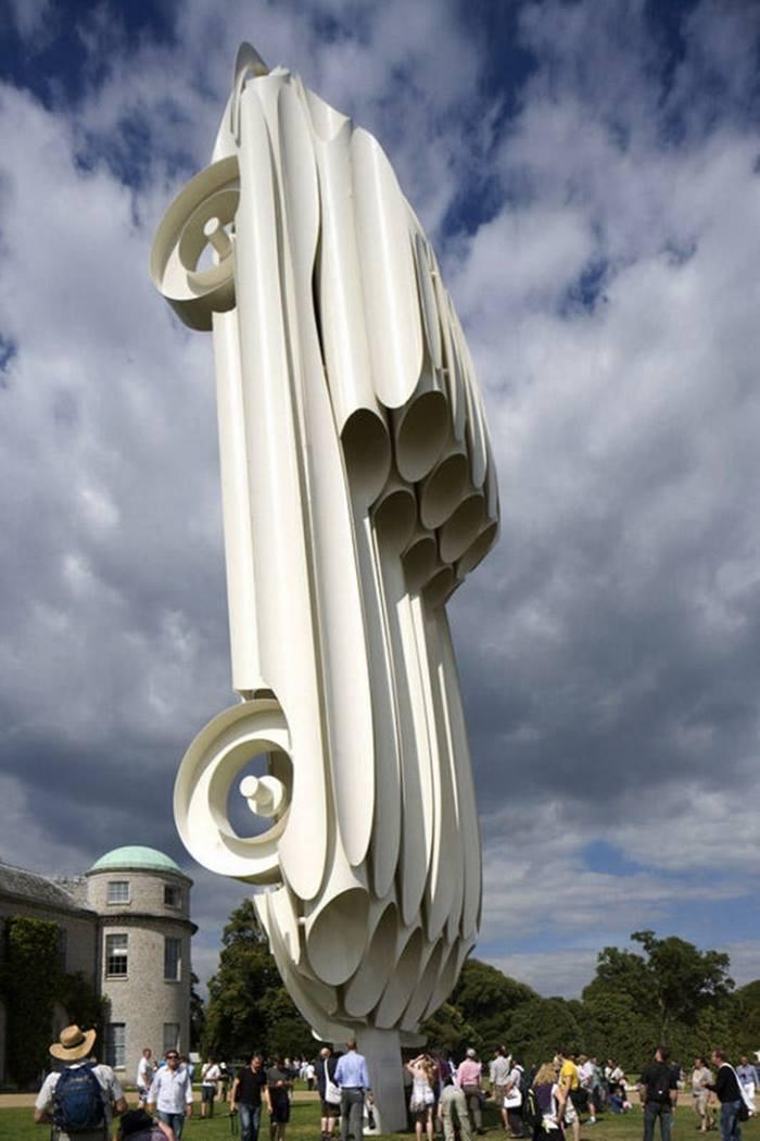 Sculpture of Jaguar Automobile Exhibition, Great Britain